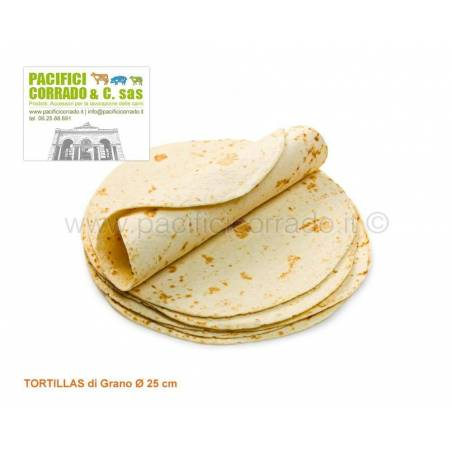 tortillas di grano diametro 15 cm