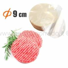 Dischi per Hamburger in Cellophane Biodegradabile 1 e 2,5kg non aderenti