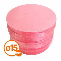 dischi rosa perlafor per hamburger diametro 150 mm