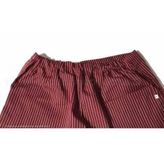 Pantalone chef gessato colore bordeaux