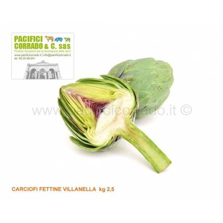 Carciofi fettine villanella  kg 2,5 salse barbecue