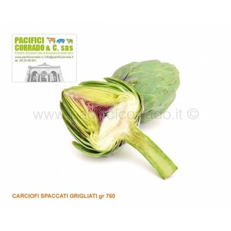 Carciofi spaccati grigliati gr 760 salse barbecue