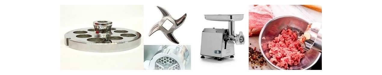 accessori e ricambi per tritacarni piastre e coltelli inox