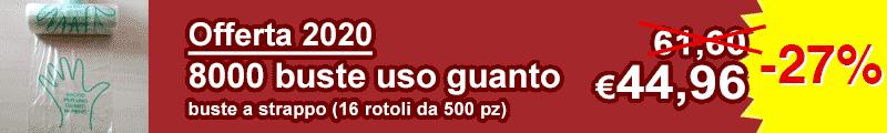 offerta buste ortofrutta uso guanto per supermercati