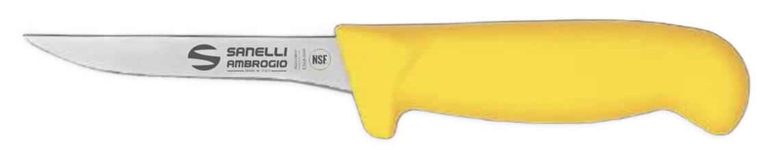 Coltello sanelli manico giallo scannapolli lama 11 cm