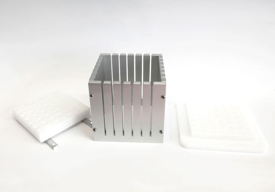 cubo taglia arrosticini da 49 pz smontata